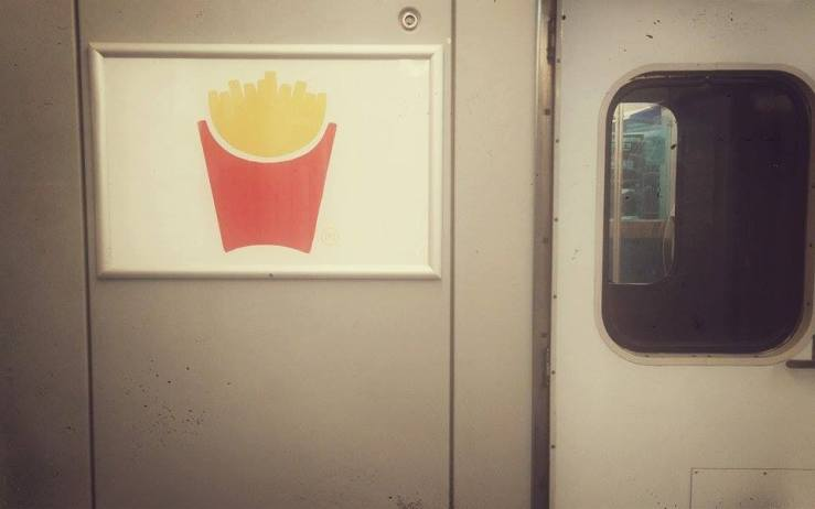 Minimalist McD advert. I like.