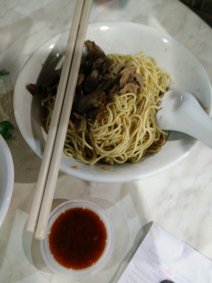 I think this was kolo mee, I THINK. this was 5/10