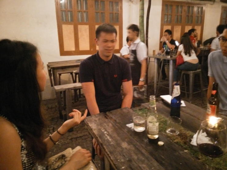 Karen, James, and Derrick. Really cool hangout place along Carpenter Street. Kills any type of hipster cafe KL tries to set up.