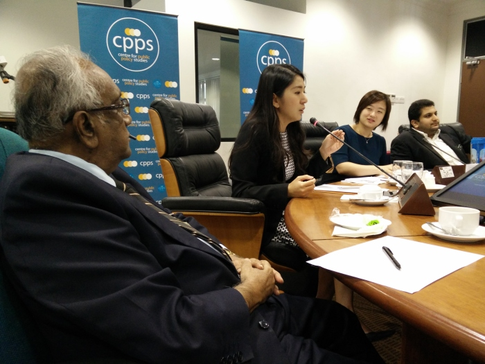 from left to right: tan sri ramon, MB Yeo Bee Yin, YS, and uh forgot Ivanpal is it