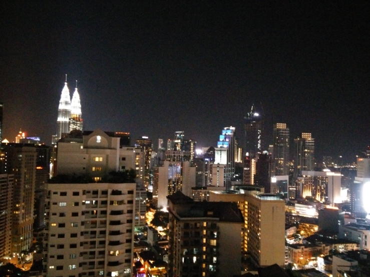 the view from the 29th floor of gabriel's accommodation